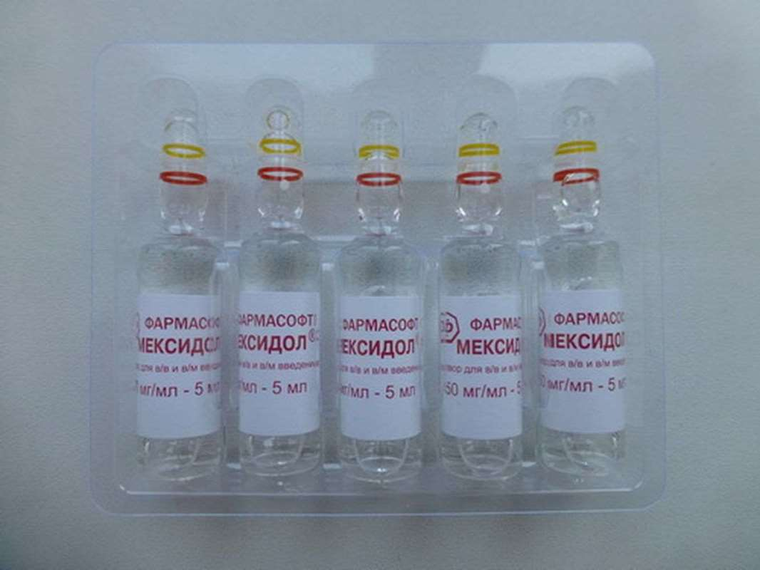 Mexidol injection 5% 5 vials, 5ml