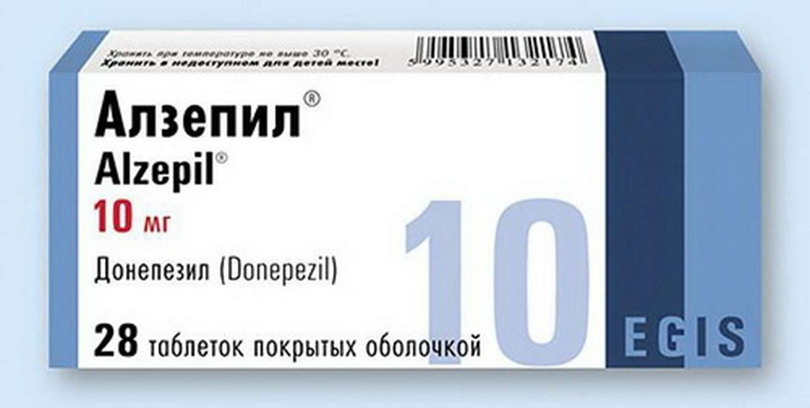 Alzepil 10mg 28 pills buy treatment of dementia symptoms with Alzheimer's disease online