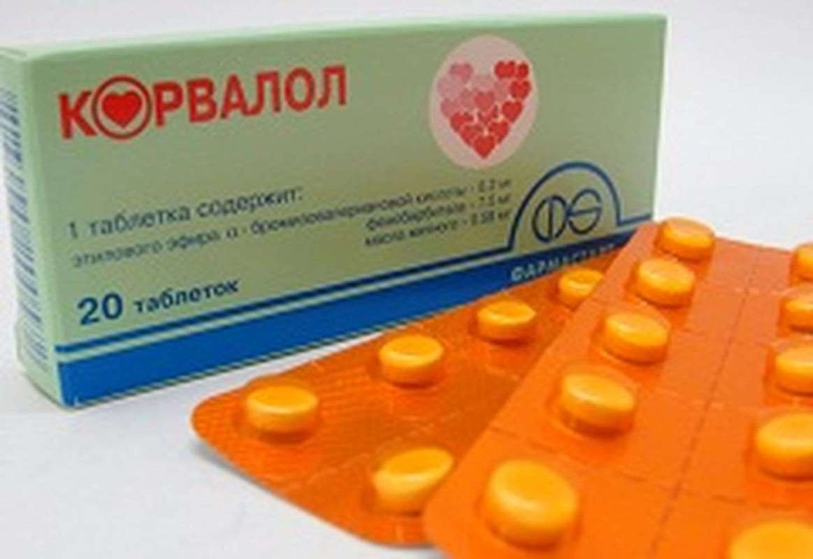 Corvalol 20 pills buy sedative herbal combination product