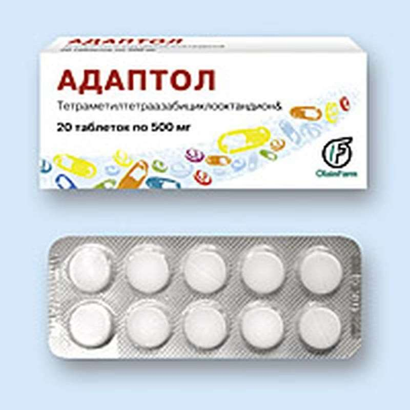 Adaptol 500mg 20 pills buy anxiolytic drug online Tetramethyltetraazabicyclooctandionum