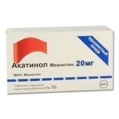 Akatinol Memantine 20mg 56 pills buy drug improving cerebral metabolism